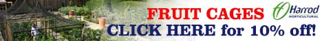 10% discount of all Harrod Horticultural Fruit Cages