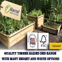 Quality Timber Raised Beds from Harrod Horticultural