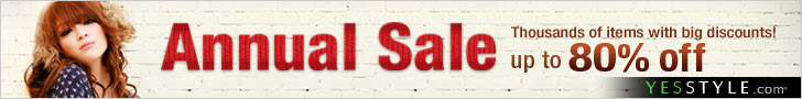 YESSTYLE: Annual Sale Up to 80% off