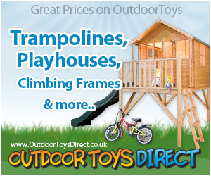 Outdoor Toys Direct. Great Range of Trampolines, Playhouses and Climbing Frames.