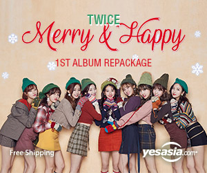 Twice The 1st Album Repackage - Merry & Happy