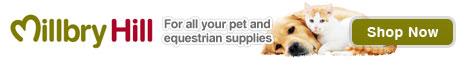Millbry Hill pet supplies for dogs, cats, horses and more