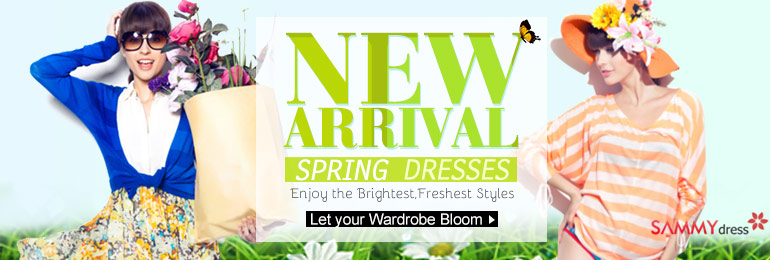New Arrived Spring Dresses at sammydress.com! Enjoy the Brightest & Freshest Styles!