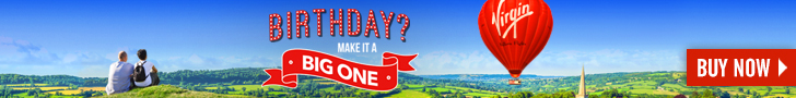 birthday gift experience day - hot air balloon ride offer