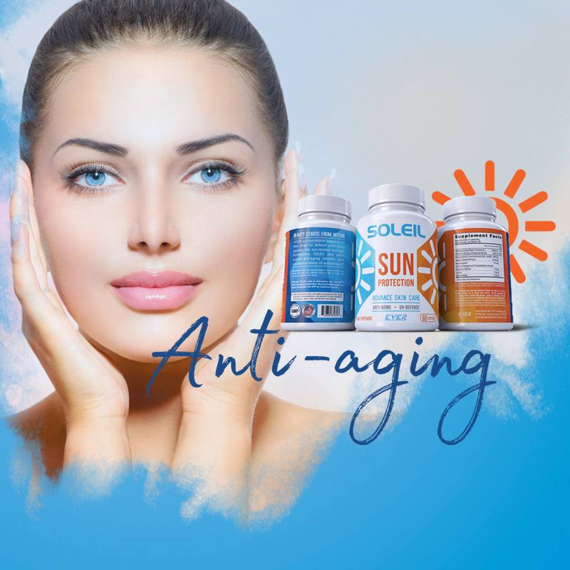 Sun protective, sun protection, polypodium leucotomos, sunblock in capsules, anti-aging, sun damage,