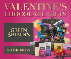 Green & Black's at Valentine's