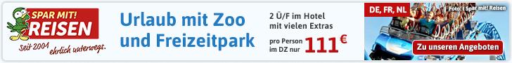 Rein ins Vergnügen: Kurzurlaub mit Besuch der schönsten Zoos und Freizeitparks ab 119 Euro!