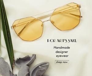 For Art's Sake Designer Sunglasses