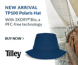 Introducing New TP100 Polaris hat, with 3XDRY Bio fabric, stowaway cape and Velcro sunglasses tab. T