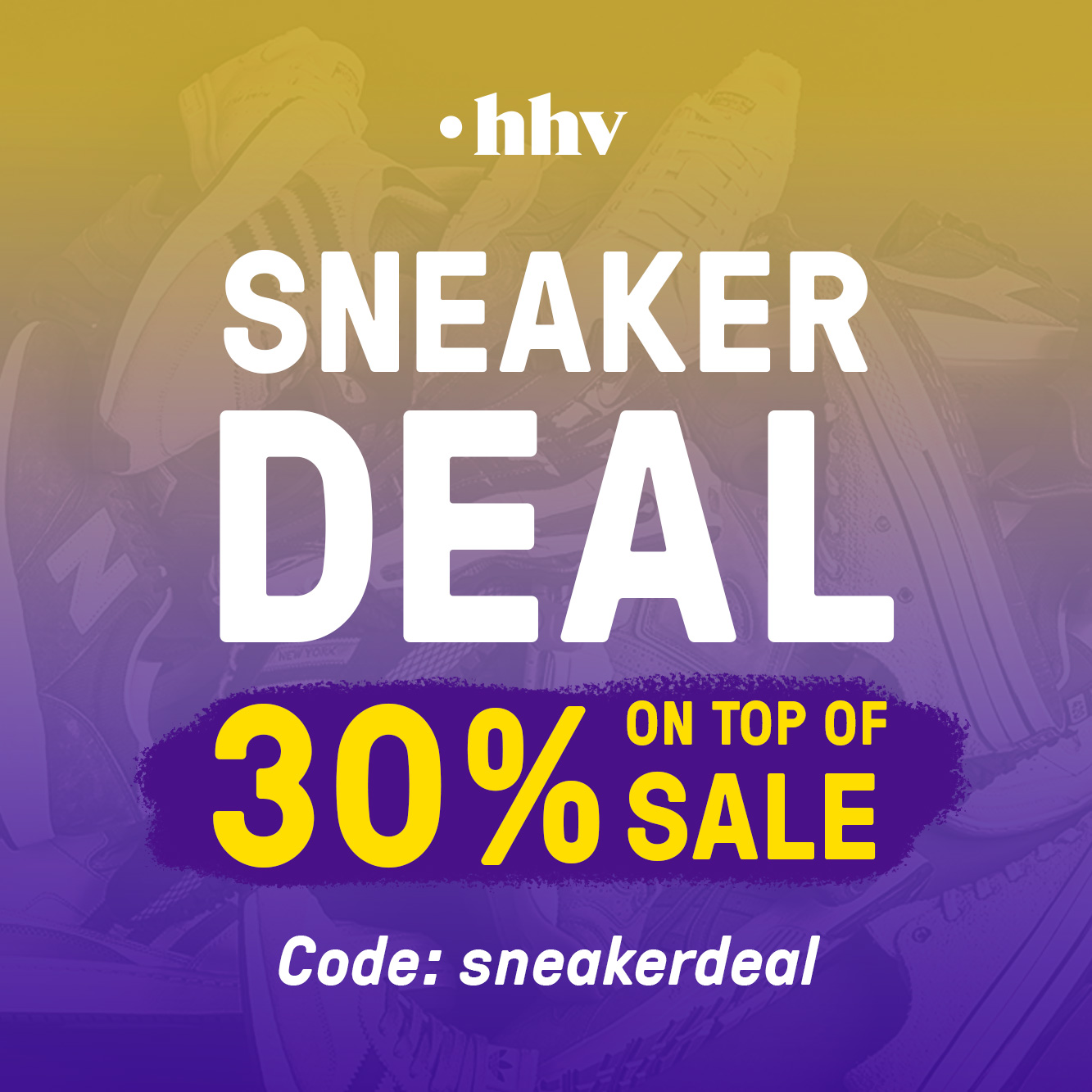 Hol' dir jetzt 30% Rabatt on top auf alle bereits reduzierte Sneakers