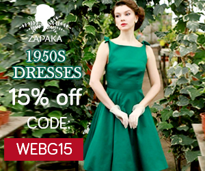 green 1950s dresses