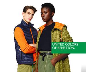 Benetton, descuentos en moda colorida