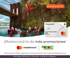 Paga con tu tarjeta Mastercard y obtén 25% de descuento en Xcaret