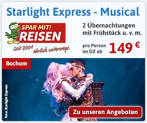 Starlight Express Bochum - die rasante Musicalreise ab 159 Euro.