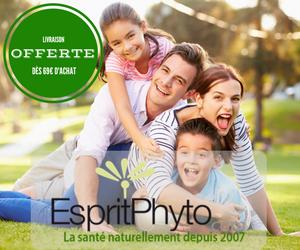 EspritPhyto, livraison à 4,50€, offerte à partir de 69€