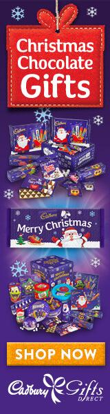 Christmas starts at Cadbury Gifts Direct