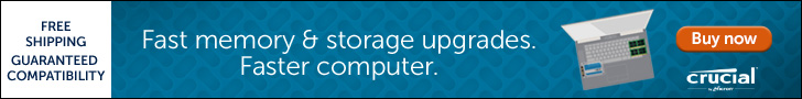 PC Memory and SSD to boost your system from Crucial