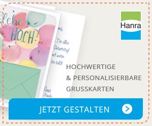 Hanra Kartenmanufaktur = hochwertige Handarbeitskarten + individueller Eindruck. Jetzt gestalten!