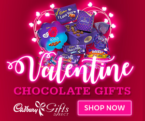 Valentines Gifts from Cadbury Gifts Direct
